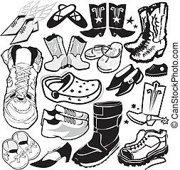 calçado, cobrança