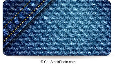 calças brim azuis, bandeira