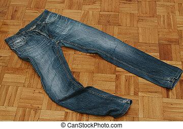 calças brim, moda, roupas casuais