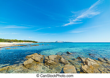 Cala d'Ambra on a sunny day