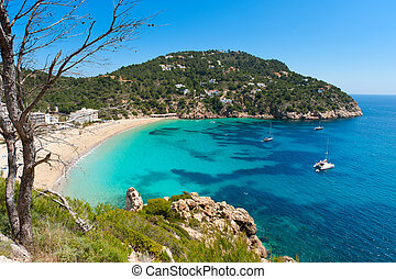 Cala de Sant Vicent on the North East of Ibiza, Spain