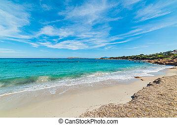 Cala Granu on a sunny day