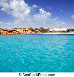 Cala Saona Formentera balearic island from sea view