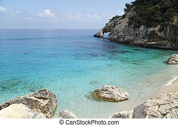 cala, sardegna, italia, goloritze, spiaggia