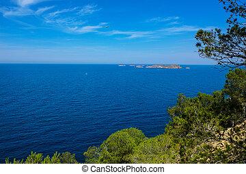 cala Vedella Vadella Ibiza island Mediterranean sea