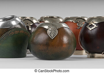 Calabash Cups - Calabash cups for drinking mate, a ...
