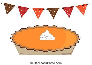 calabaza, acción de gracias, pastel