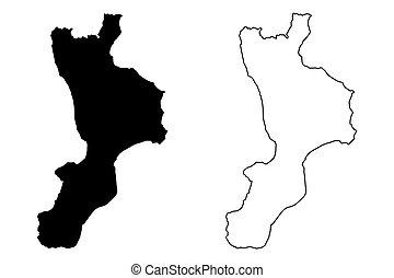 Calabria map - Calabria (Autonomous region of Italy,...