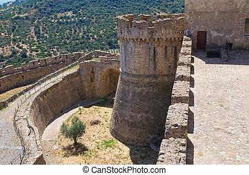 calabria., swabian, italy., imperiale., rocca, 城