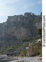 calabria, taormina, 해안선, 시실리, 이탈리아, 만