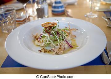 calamaro, delizioso, insalata