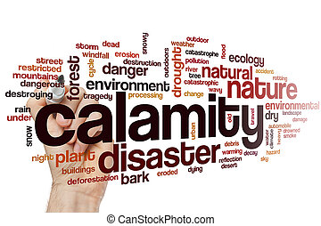 Calamity word cloud concept