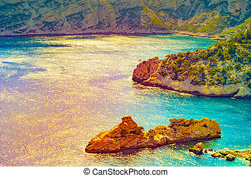 Calanque at les Calanques national park in France - Calanque...