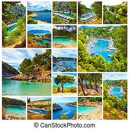 Calanque between Marseille and Cassis, Provence, France - ...