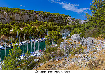 Calanque de Port Miou - fjord near Cassis France - nature ...