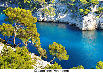 calanque of Cassis - Calanques of Port Pin in Cassis in ...