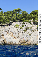 Calanques coast near Cassis in Provence, Southern France