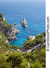 Calanques of Sugiton in Marseille in France