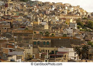 Calatafimi view of city ,sicilia, italy