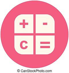 Calc icon - Calculator icon (flat design with long shadows)