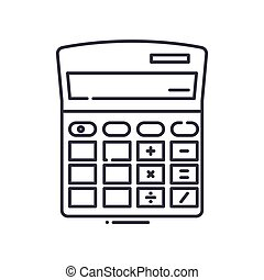 Calc icon, linear isolated illustration, thin line vector, ...