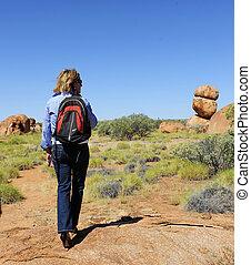 calcanhares altos, outback, hiking
