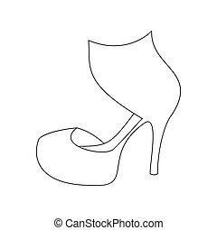 formas de sapatos vetorizados
