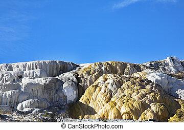 calcareous, formaciones, travertine
