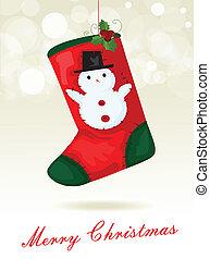 calcetín, navidad, plano de fondo