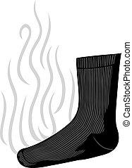 calcetín, stinky, olor, malo