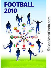 calcio, 2010, fiammifero gioco calcio