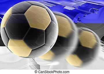 calcio, bandiera, ondulato, estonia