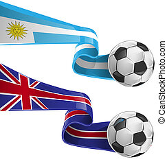 calcio, bandiera, uruguay, inghilterra, &