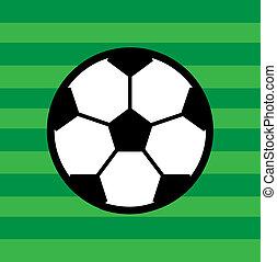 calcio, disegno, fiammifero, sagoma