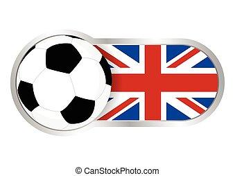calcio, distintivo, regno unito