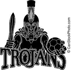 calcio, donna, spartan, trojan, guerriero, gladiator
