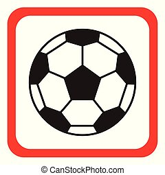 calcio, icon., vettore, illustration., palla