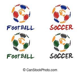 calcio, illustrazione, football