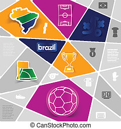 calcio, infographic, football