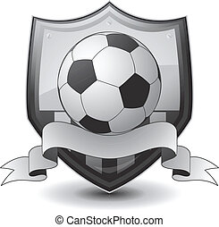 calcio, logotipo, emblema