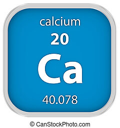 calcio, material, señal