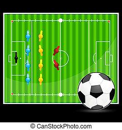 calcio, mostra, palla, suolo