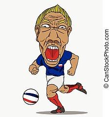 calcio, player., francese