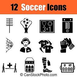 calcio, set, icone