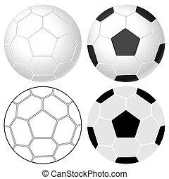 calcio, set, palla