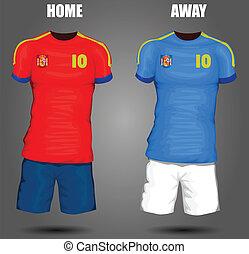 calcio, spagna, jersey