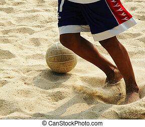 calcio, spiaggia