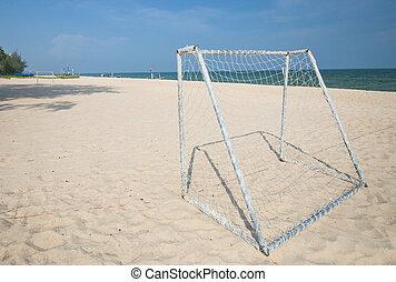 calcio, spiaggia, scopo