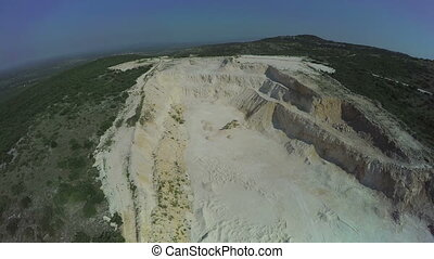 Calcium carbonate quarry in Dalmatian hinterland - Copter...