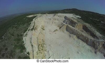 Calcium carbonate quarry in Dalmatian hinterland